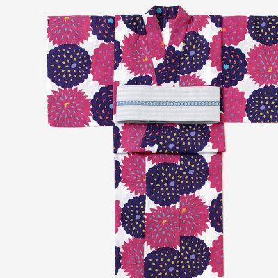 SOU・SOU×京都丸紅 浴衣/天竺牡丹 紫紺花(てんじくぼたん しこんばな)