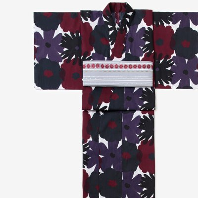 SOU・SOU×京都丸紅 浴衣/おおらかとりどり 風花(かざはな)