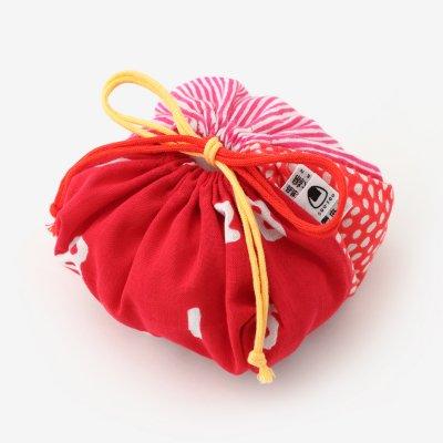 伊勢木綿 おむすび巾着/間がさね 宮美(まがさね みやび)×SO-SU-U 紅色(べにいろ)