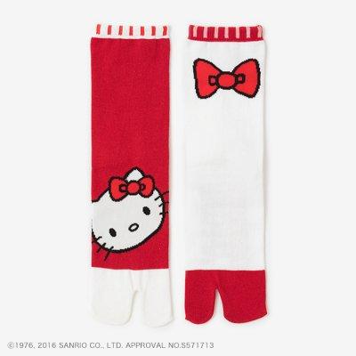 足袋下(普通丈)/Hello Kitty×SOU・SOU 深緋(こきひ) 【女性用】