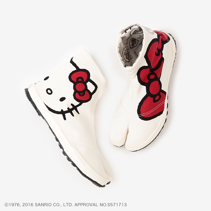 貼付地下足袋/Hello Kitty×SOU・SOU