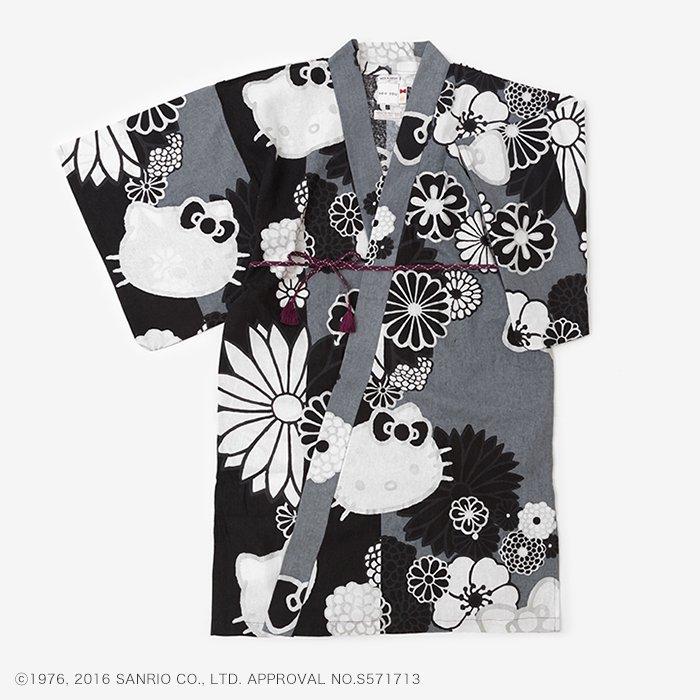 Hello Kitty×SOU・SOU 麻 小袖羽織 長丈/金襴緞子 夜色(きんらんどんす やしき)