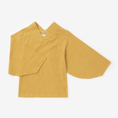 高島縮 薙(なぎ)ジバン/黄金色(こがねいろ)