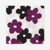 平織り21番手 座布団(クッション)カバー/花がさね 白紫(しろむらさき)【※お届けに約2週間】