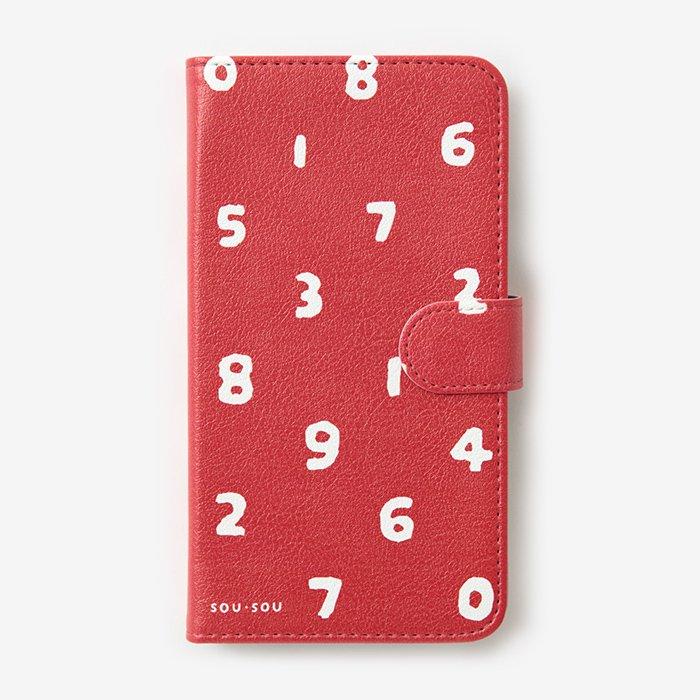 手帳型テキスタイルカバ-/SO-SU-U 紅色(べにいろ)