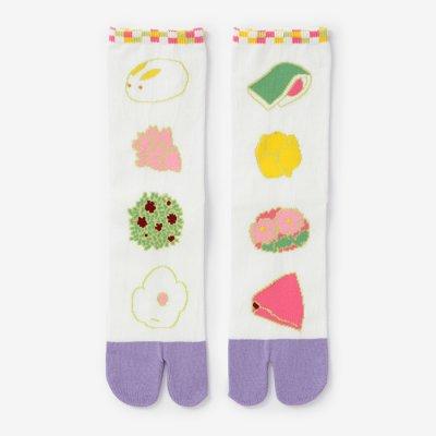 足袋下(普通丈)/和菓子(わがし) 【男・女性用】
