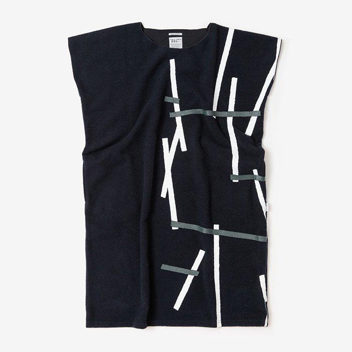 羅紗 長方形衣(らしゃ ちょうほうけい)/鳶と余白 濃紺(とびとよはく のうこん)
