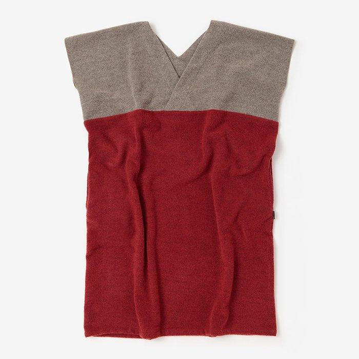 羅紗 抜衿長方形衣/杢茶鼠×蘇枋色(もくちゃねず×すおういろ)