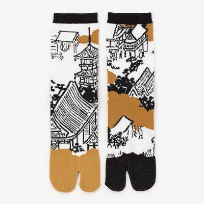 足袋下(普通丈)/洛中洛外図(らくちゅうらくがいず) 【男・女性用】