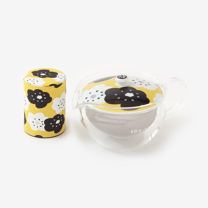 ガラス急須&茶缶セット/ほほえみ