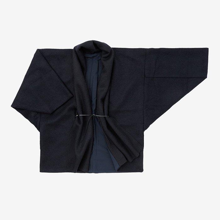 圧縮阿弥 もじり袖 短衣 袷(たんい あわせ)/濃紺(のうこん)