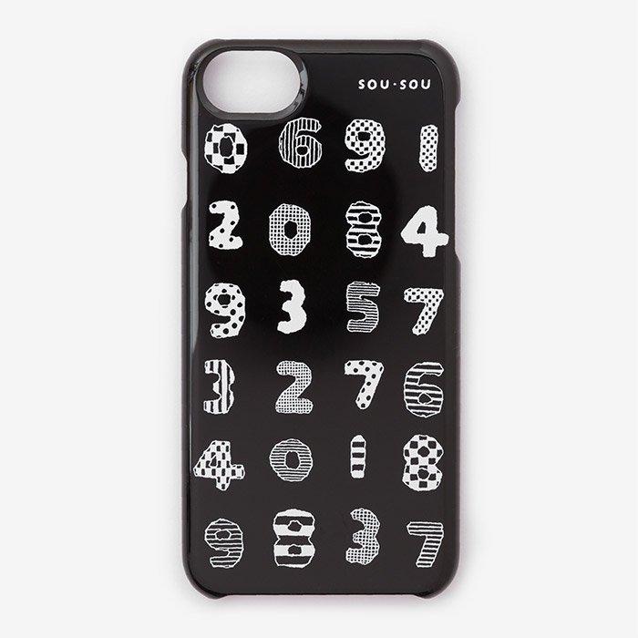 iPhone6/6s/7/8 テキスタイルカバー/数遊び