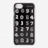 iPhone 6/6s/7/8/SE(第2世代) テキスタイルカバー/数遊び