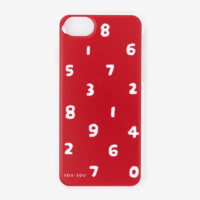 iPhone6/6s/7/8 テキスタイルカバー/SO-SU-U 紅色