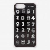 iPhone6 Plus/6s Plus/7 Plus/8 Plus テキスタイルカバー/数遊び