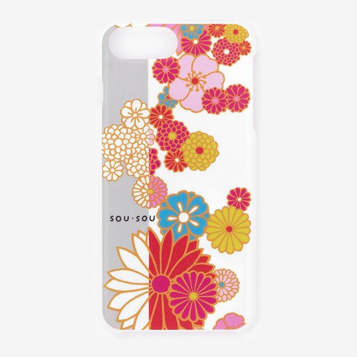 iPhone6 Plus/6s Plus/7 Plus/8 Plus テキスタイルカバー/金襴緞子(きんらんどんす)