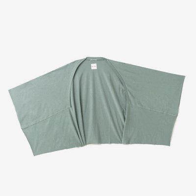 綿モダール むささび 短丈/山葵色(わさびいろ)