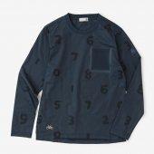 テーピングポケット 長袖Tシャツ/SO-SU-U大 濃紺