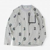 テーピングポケット 長袖Tシャツ/SO-SU-U大 銀鼠