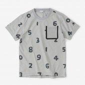 テーピングポケット 半袖Tシャツ/SO-SU-U大 銀鼠
