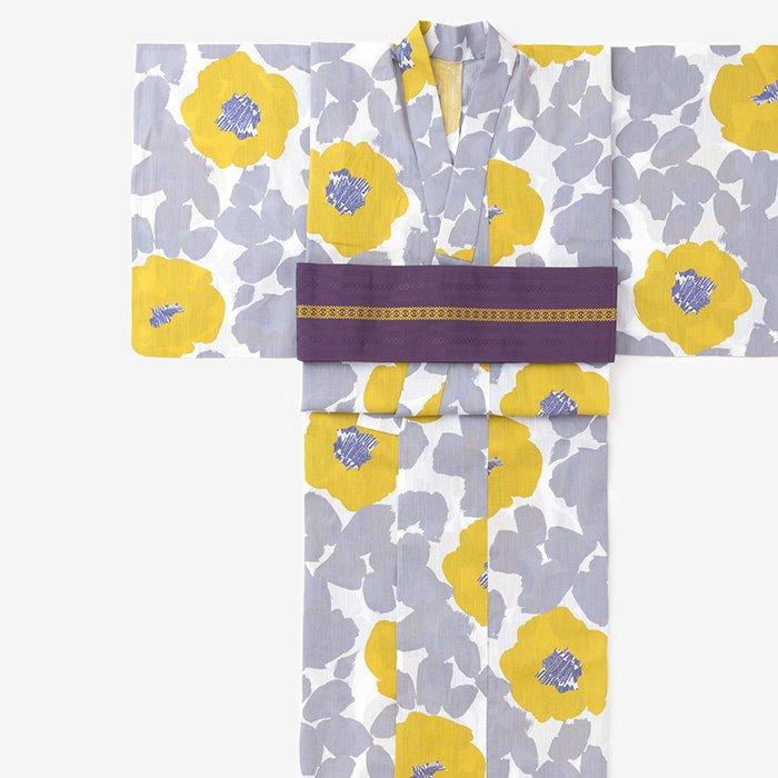 SOU・SOU×京都丸紅 浴衣/優 銀鼠(ゆう ぎんねず)