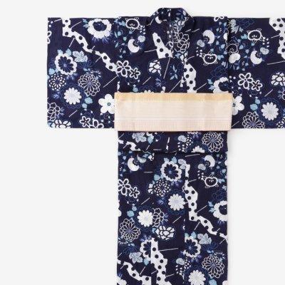SOU・SOU×京都丸紅 浴衣/扇子 宵闇(せんす よいやみ)