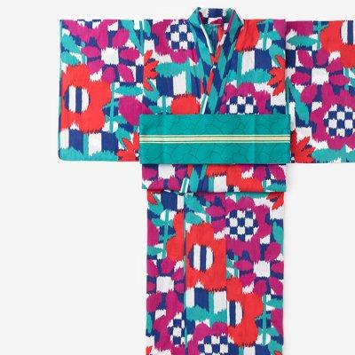SOU・SOU×京都丸紅 浴衣/花絣 鮮(はながすり さい)