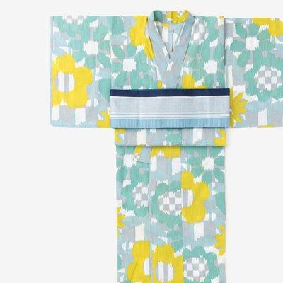 SOU・SOU×京都丸紅 浴衣/花絣 清(はながすり せい)