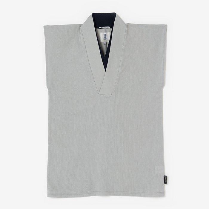 高島縮 袖なし半衿風靡(はんえりふうび)/銀鼠(ぎんねず)
