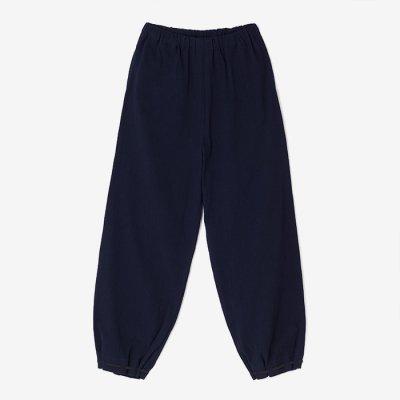 高島縮 宮中裾(たかしまちぢみ きゅうちゅうすそ)/留紺(とめこん)