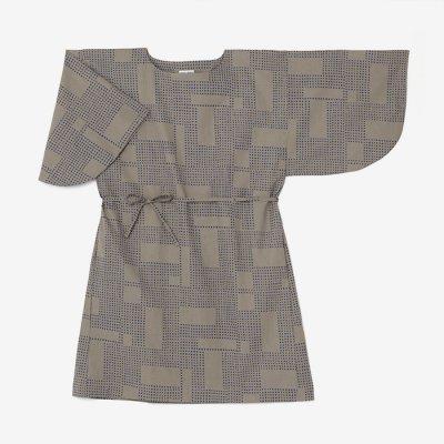 綿麻 薙刀長方形衣/影 灰汁色(かげ あくいろ)