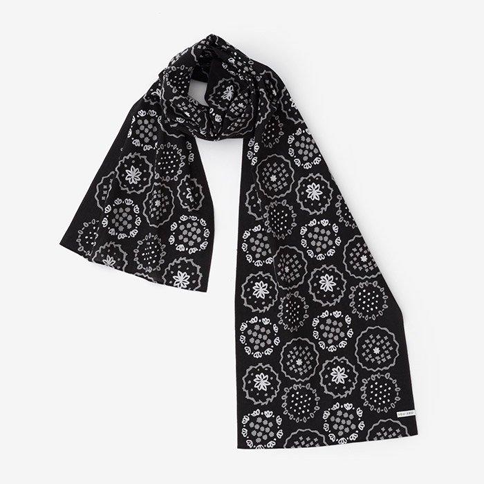 伊勢木綿 くびまき/花刺繍