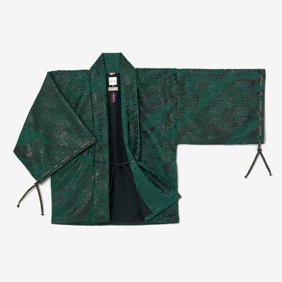 ジャカール 宮中袖 短衣 袷/平安四神 新緑靄(へいあんししん しんりょくもや)