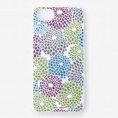 iPhone6/6s/7/8 テキスタイルカバー/菊づくし 水縹(みずはなだ)