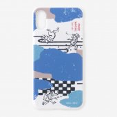 iPhone X/XS テキスタイルカバー/雲間と鳥獣戯画
