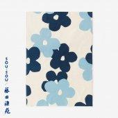 SOU・SOU×藤田染苑 藍捺染 手ぬぐい(ひめ丈)/花がさね