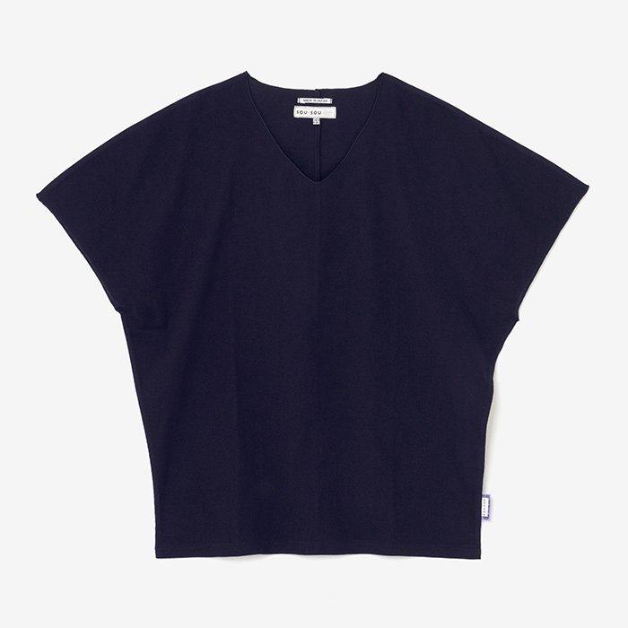 高島縮 袖なしジバン/留紺(とめこん)