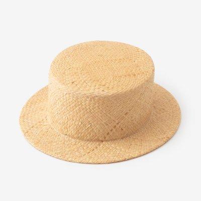 ラフィア カンカン帽/素色(しろいろ)