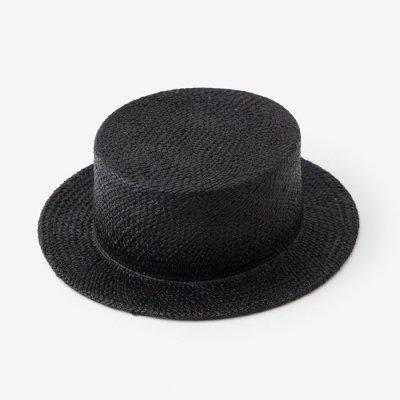 ラフィア カンカン帽/濡羽色(ぬればいろ)
