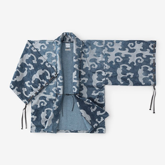 【30%OFF】インディゴ 宮中袖 短衣 単/怒濤 濃縹(どとう こきはなだ)<img class='new_mark_img2' src='https://img.shop-pro.jp/img/new/icons16.gif' style='border:none;display:inline;margin:0px;padding:0px;width:auto;' />