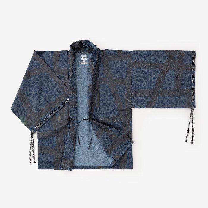 インディゴ 宮中袖 短衣 単/がんじがらめ 濃縹(こきはなだ)