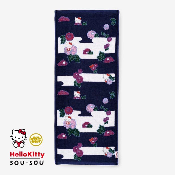 SOU・SOUの今治タオル フェイスタオル/菊 Hello Kitty