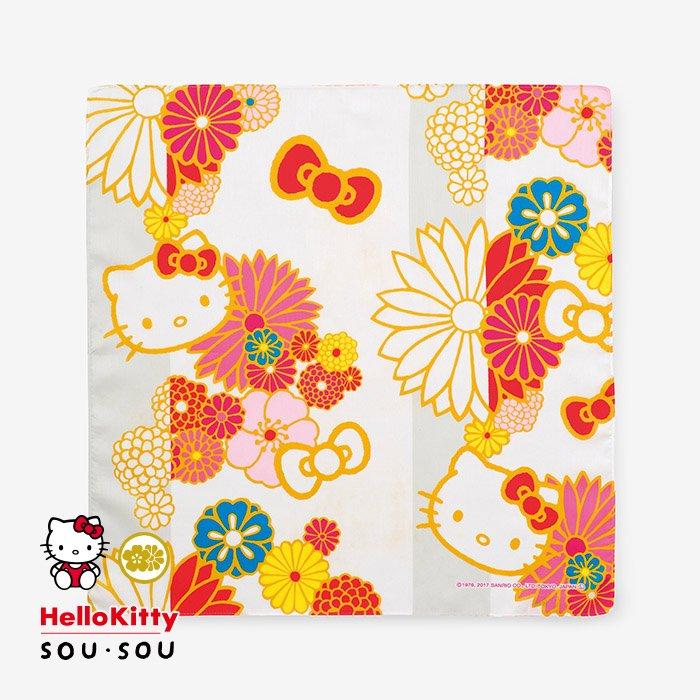 SOU・SOU×丸眞 ハンカチーフ/金襴緞子(きんらんどんす) Hello Kitty
