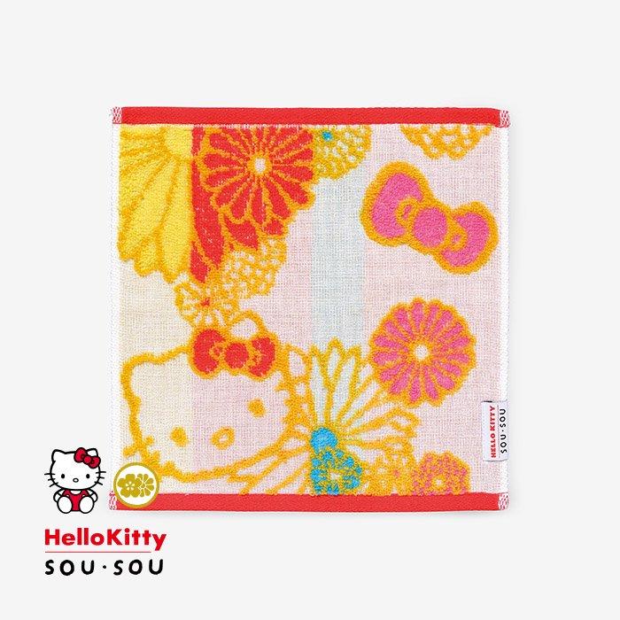 SOU・SOUの今治タオル ミニタオル/金襴緞子(きんらんどんす) Hello Kitty