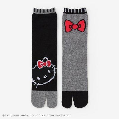 足袋下(普通丈)/Hello Kitty×SOU・SOU 濡羽色 【女性用】
