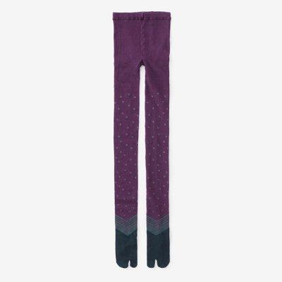 タイツ足袋/傾き 京紫(かぶき きょうむらさき)
