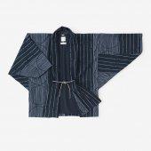 綿テンセル 綾織 もじり袖 短衣 袷(たんい あわせ)/水屋 深紺(みずや しんこん)