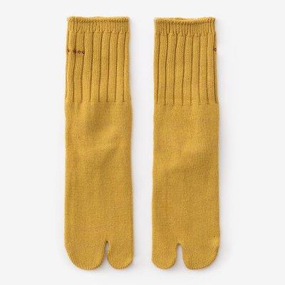 畝編(うねあみ)足袋下(普通丈)/黄金色(こがねいろ)【男・女性用】