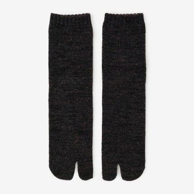 アンゴラ混 三層編 足袋下(普通丈)/留紺杢(とめこんもく)【男・女性用】