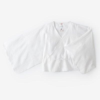 麻 小袖寛衣/雲間に菊と余白(くもまにきくとよはく) つくも